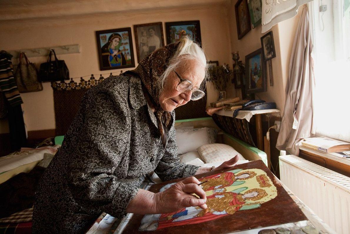Pintora de iconos, Rumanía