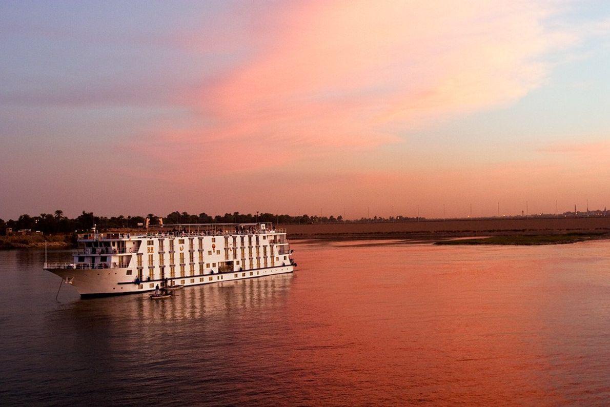Puesta de sol, Rio Nilo