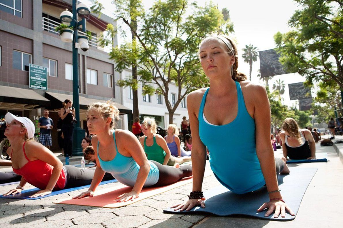 Yoga al aire libre, Santa Mónica