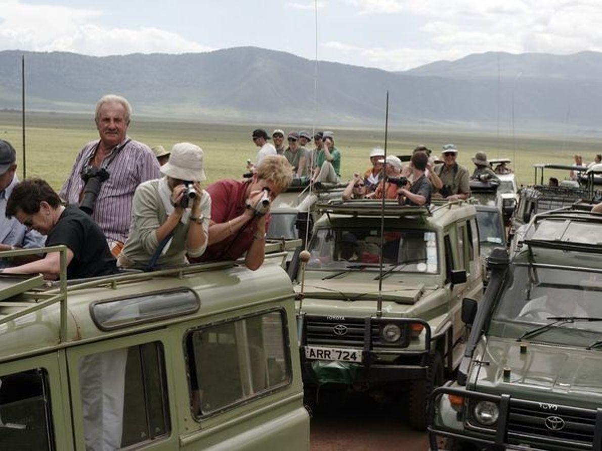 Los turistas, Área de Conservación del Ngorongoro