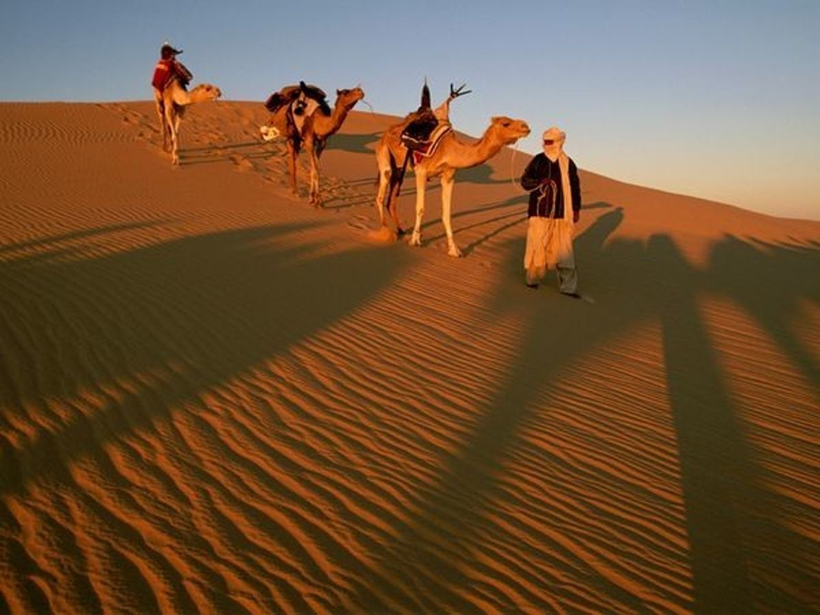 Hombres de la tribu Tuareg,  Sáhara