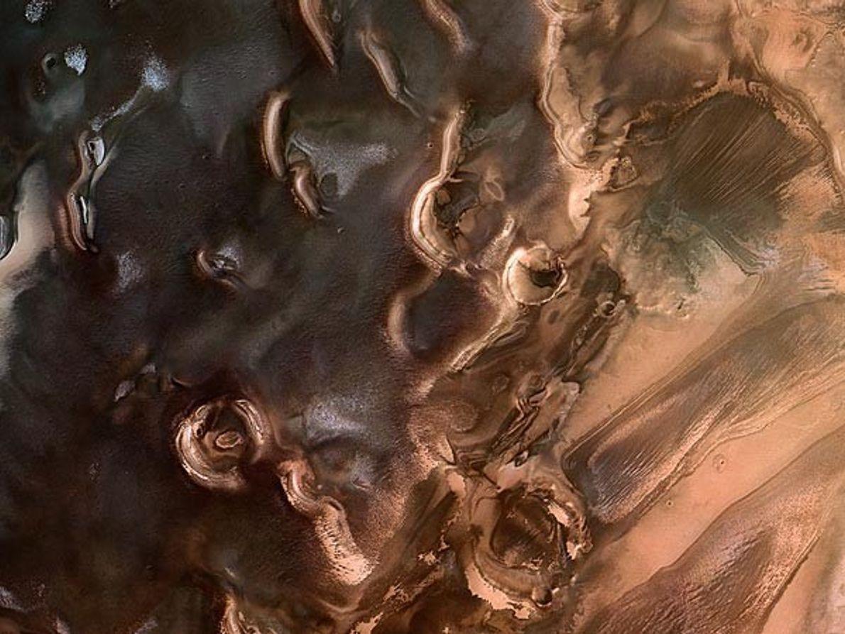 Polo Sur de Marte