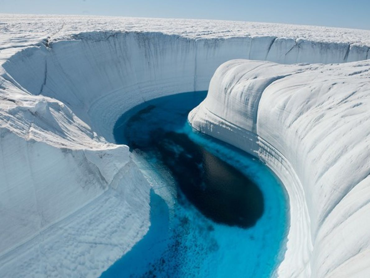 Cañón de hielo, Groenlandia