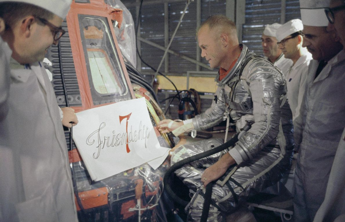 El astronauta John Glenn