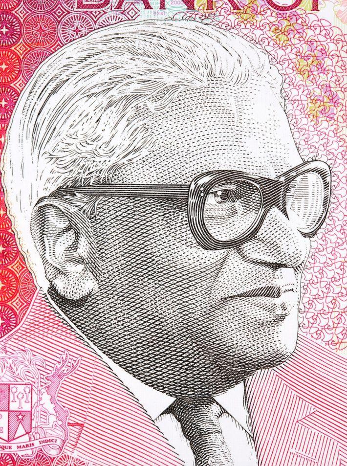 Seewoosagur Ramgoolam en el billete de 2000 rupias