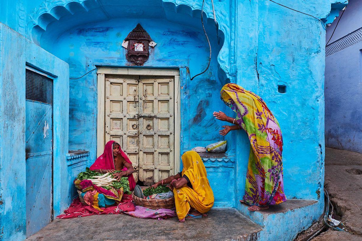 Mujeres con saris en Jodhpur