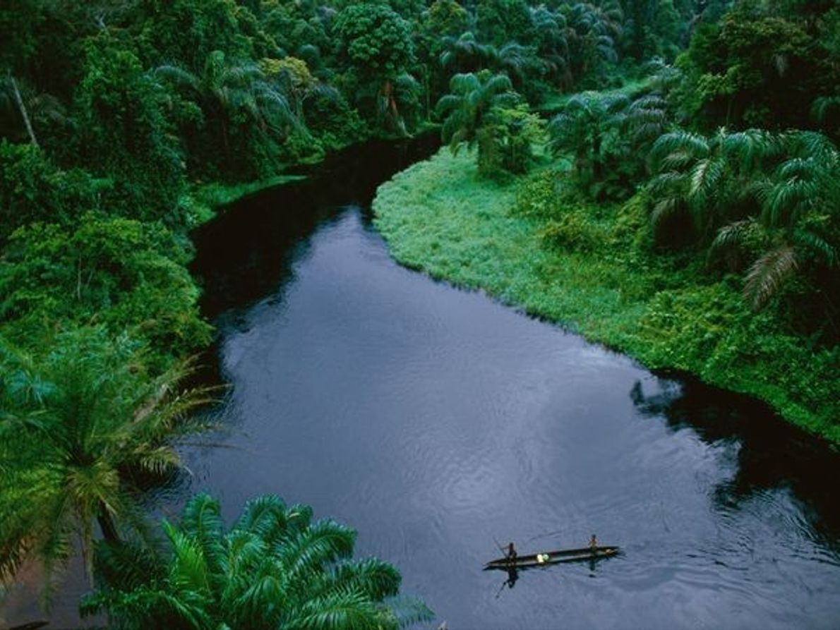 Canoa en el Congo
