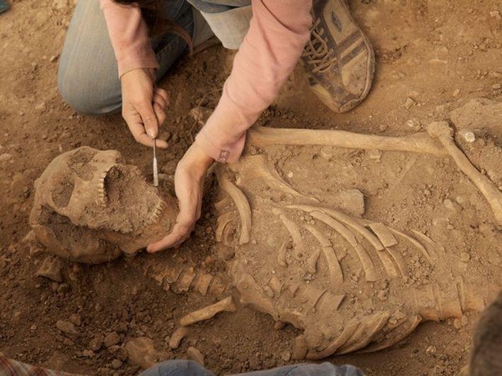 Cadáver de un templario