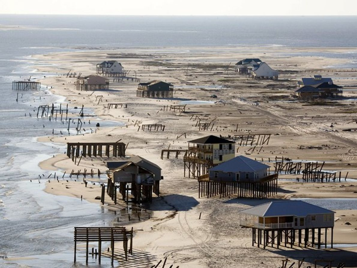 Daños del huracán Katrina