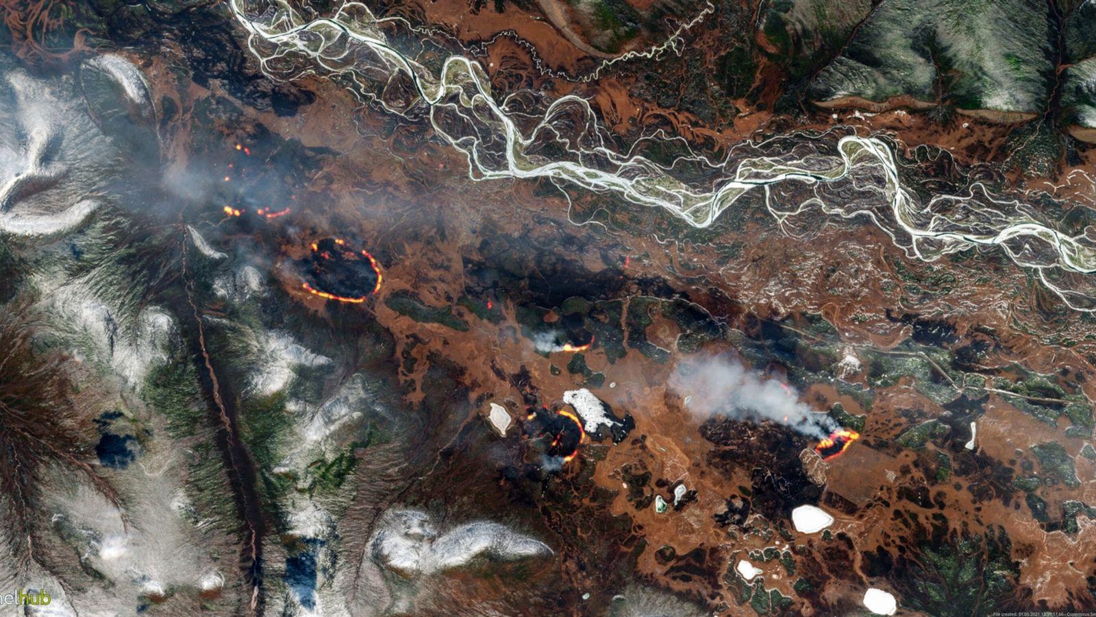 Los incendios forestales arden en el norte de Rusia