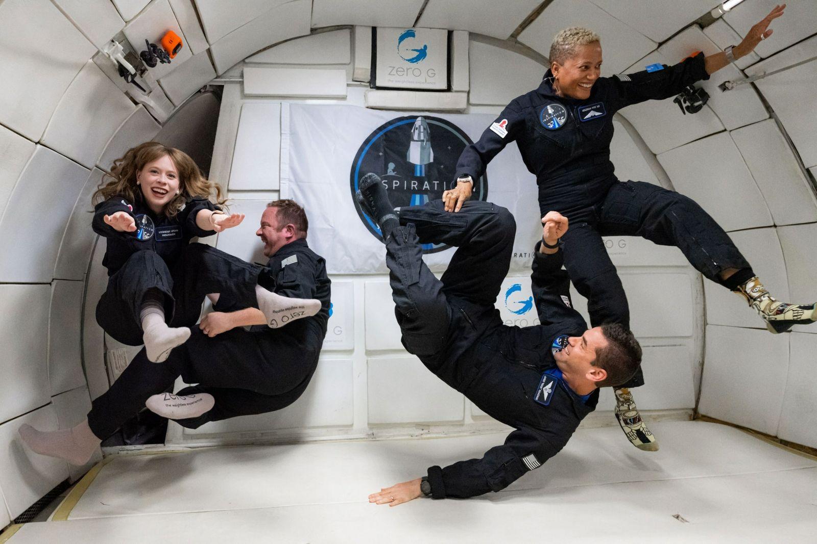 La tripulación de la misión Inspiration4
