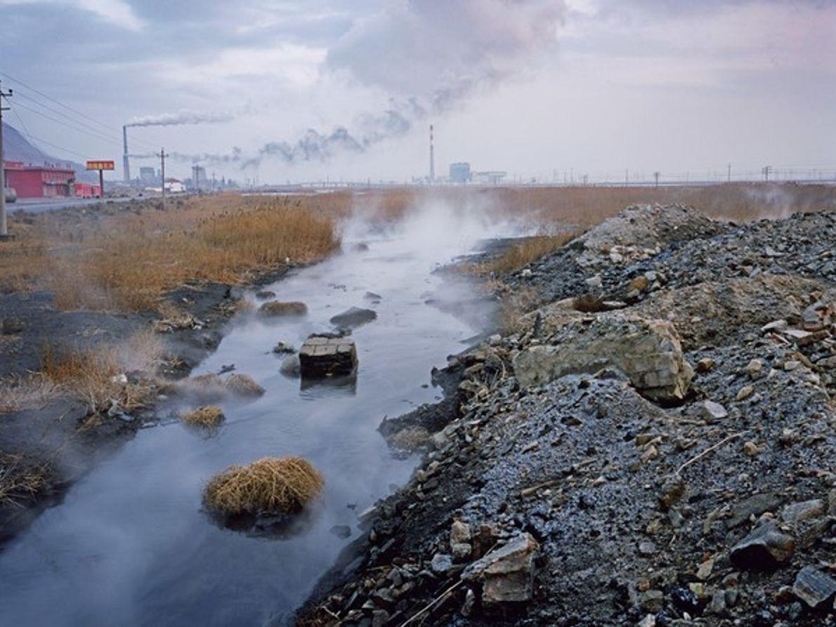 Residuos de una fábrica de fertilizantes (China)