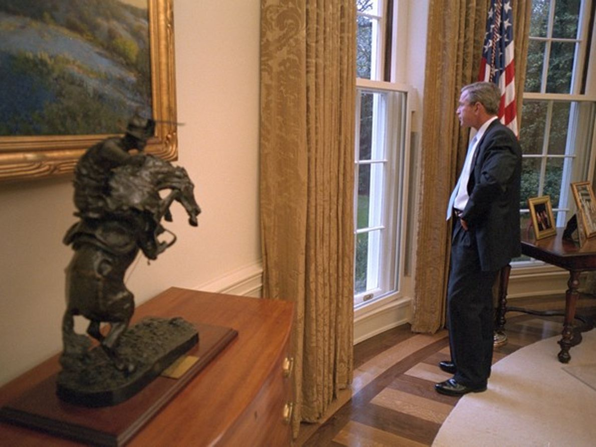 George .W. Bush en el Despacho Oval
