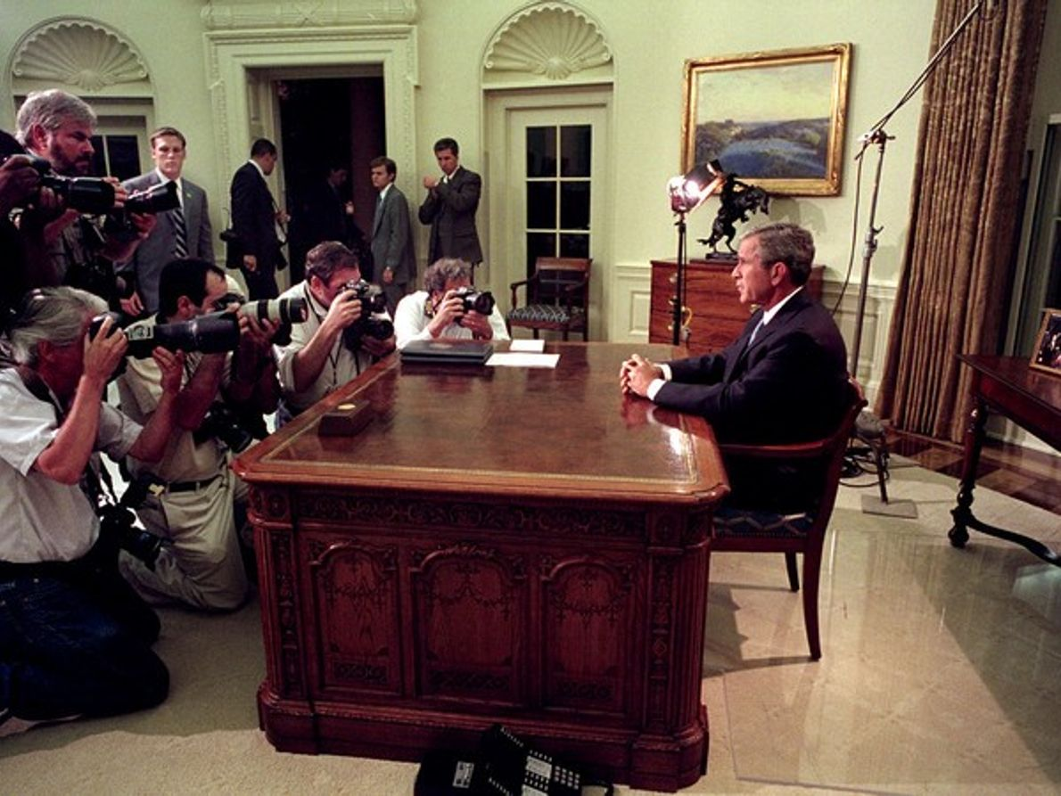 Bush en su despacho