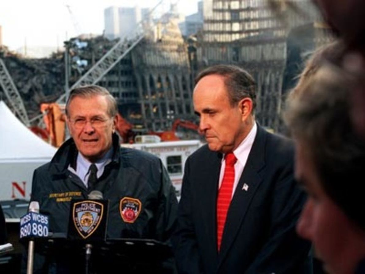 Rudolph Giuliani durante el 11S