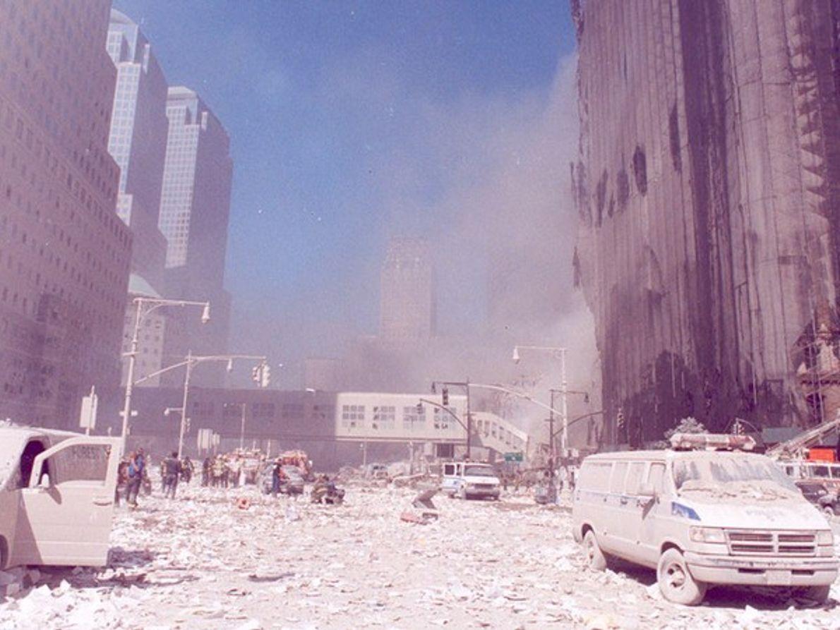 Nueva York cubierta por las cenizas