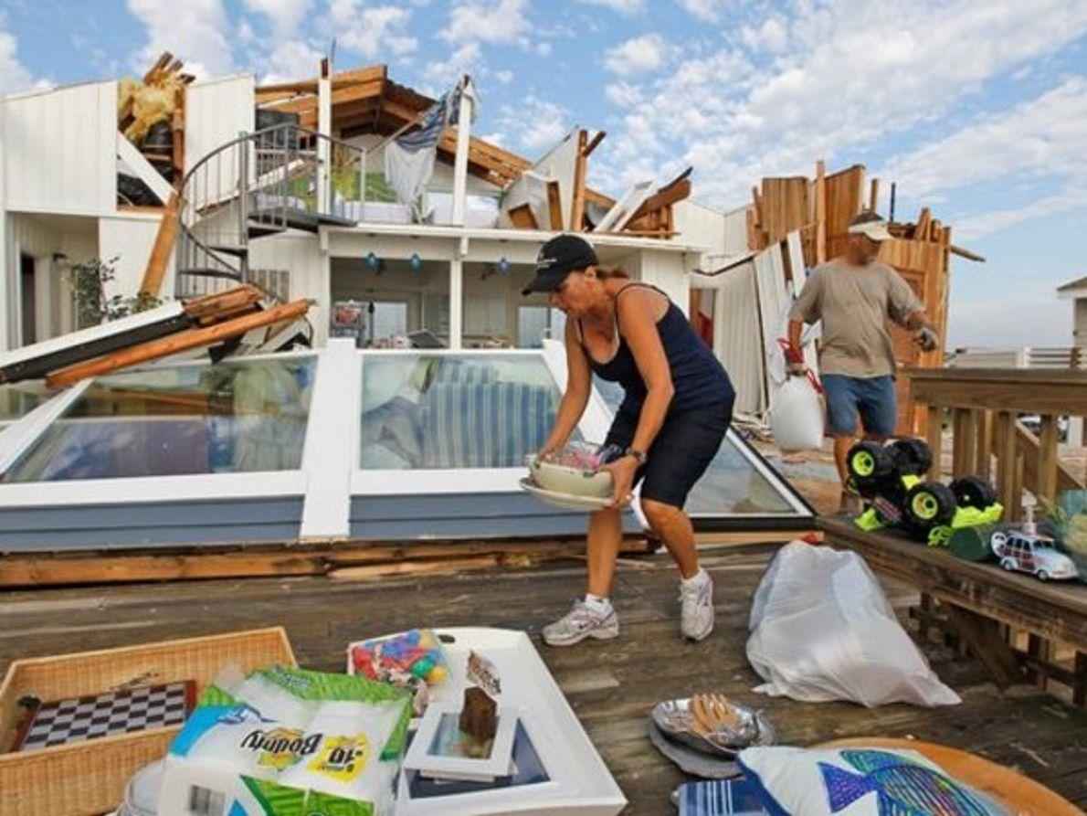 Las imágenes del paso del huracán Irene por la costa este de US