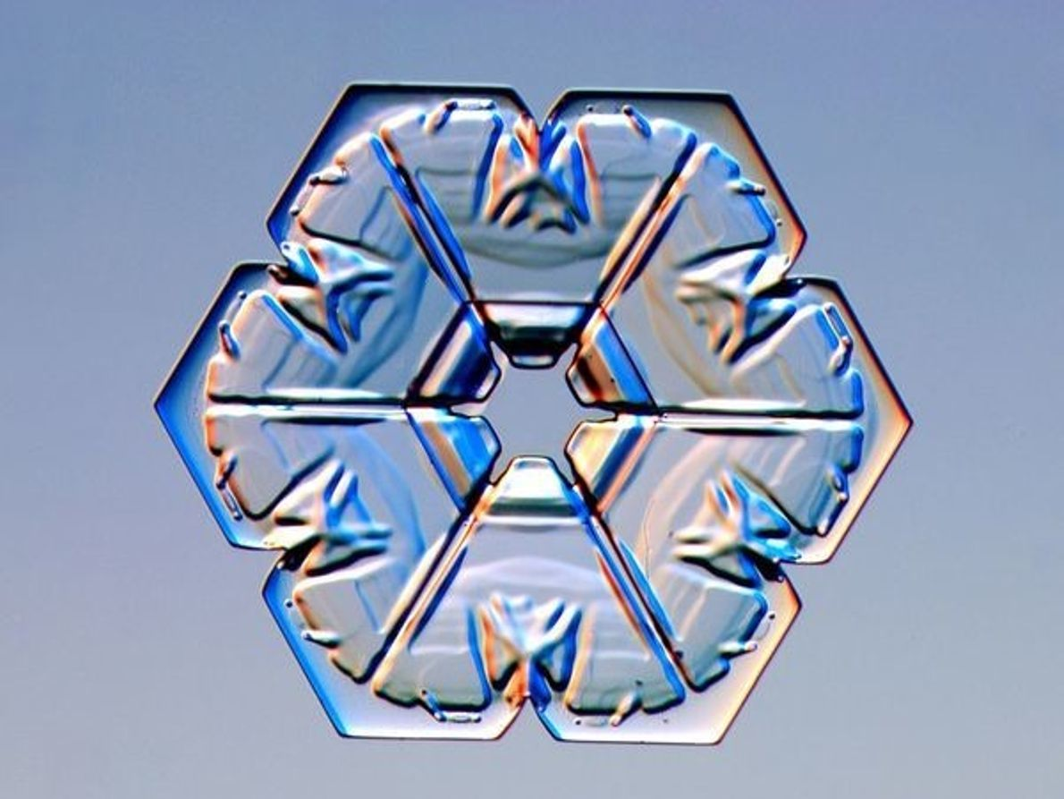 Copo de nieve de cristal