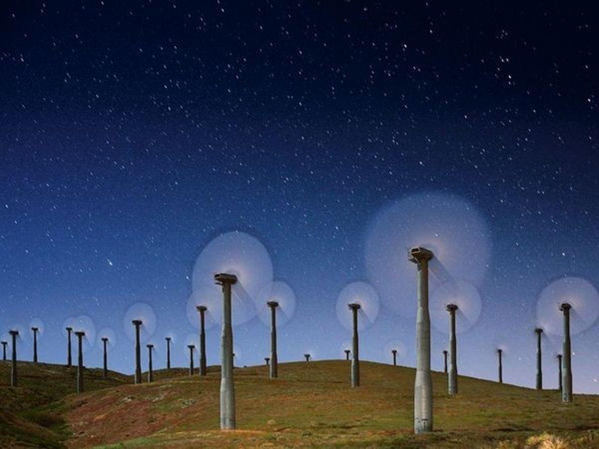 Turbinas de viento, California