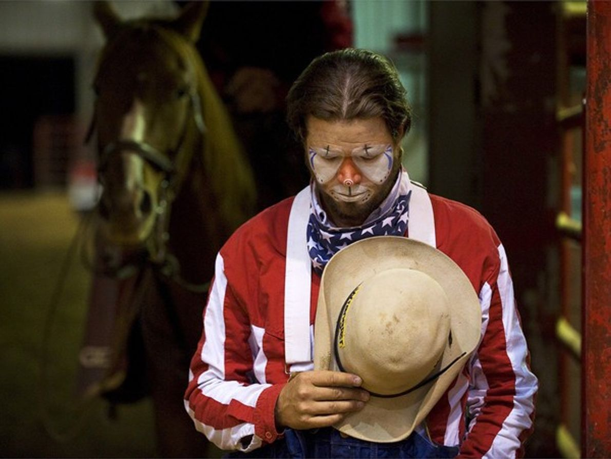 Payaso de rodeo, Texas