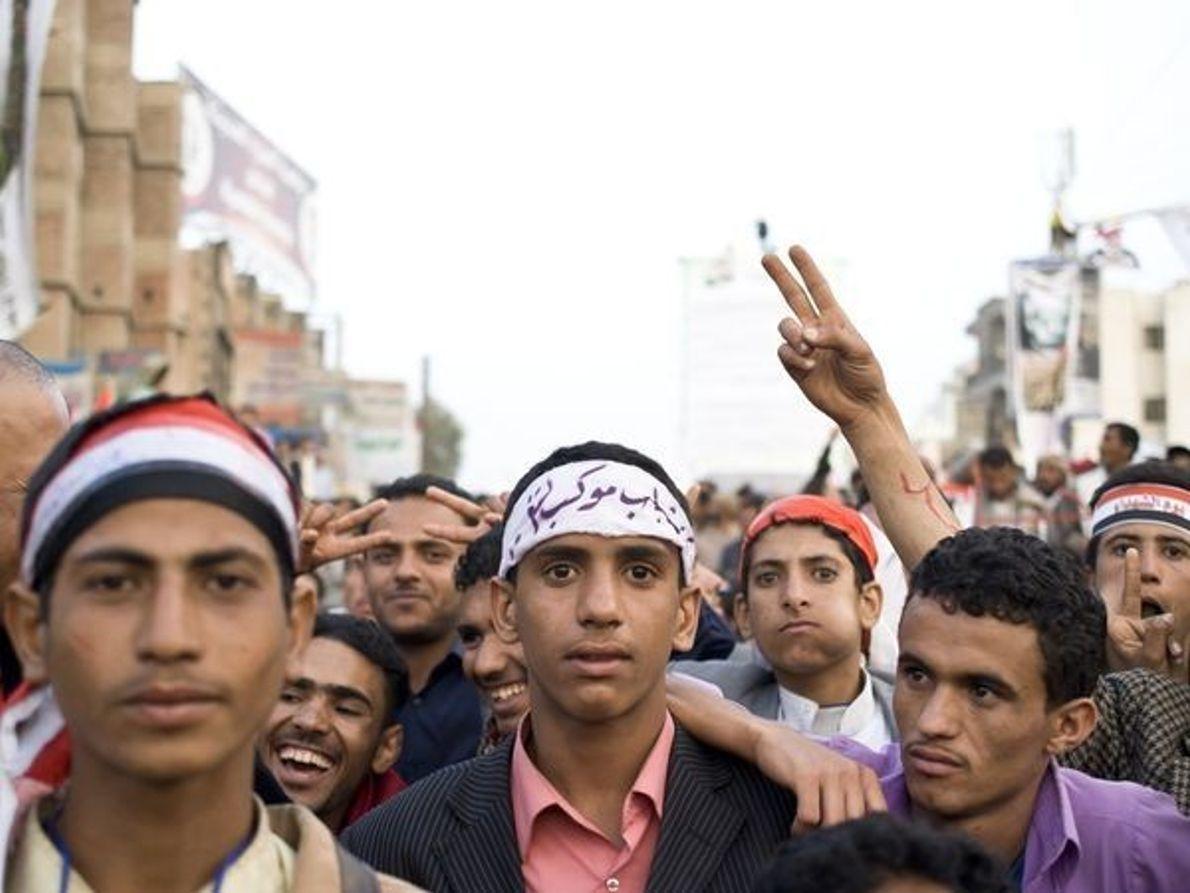 Manifestantes, Yemen