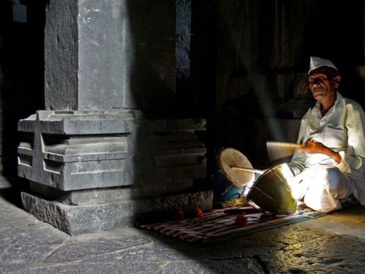 Percusionista del templo