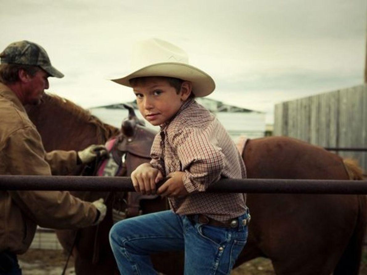 Joven vaquero, Montana