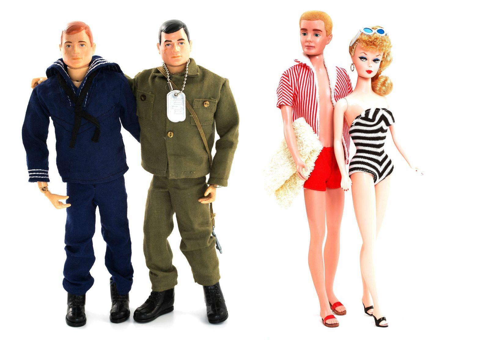 G.I. Joes, Barbie y Ken