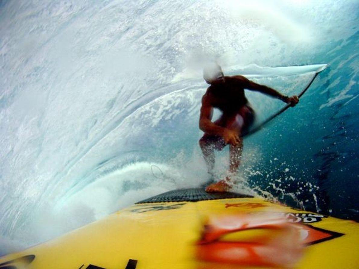 Surf en Tahití