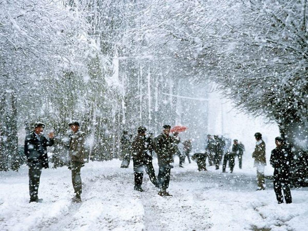 Tormenta de nieve, China