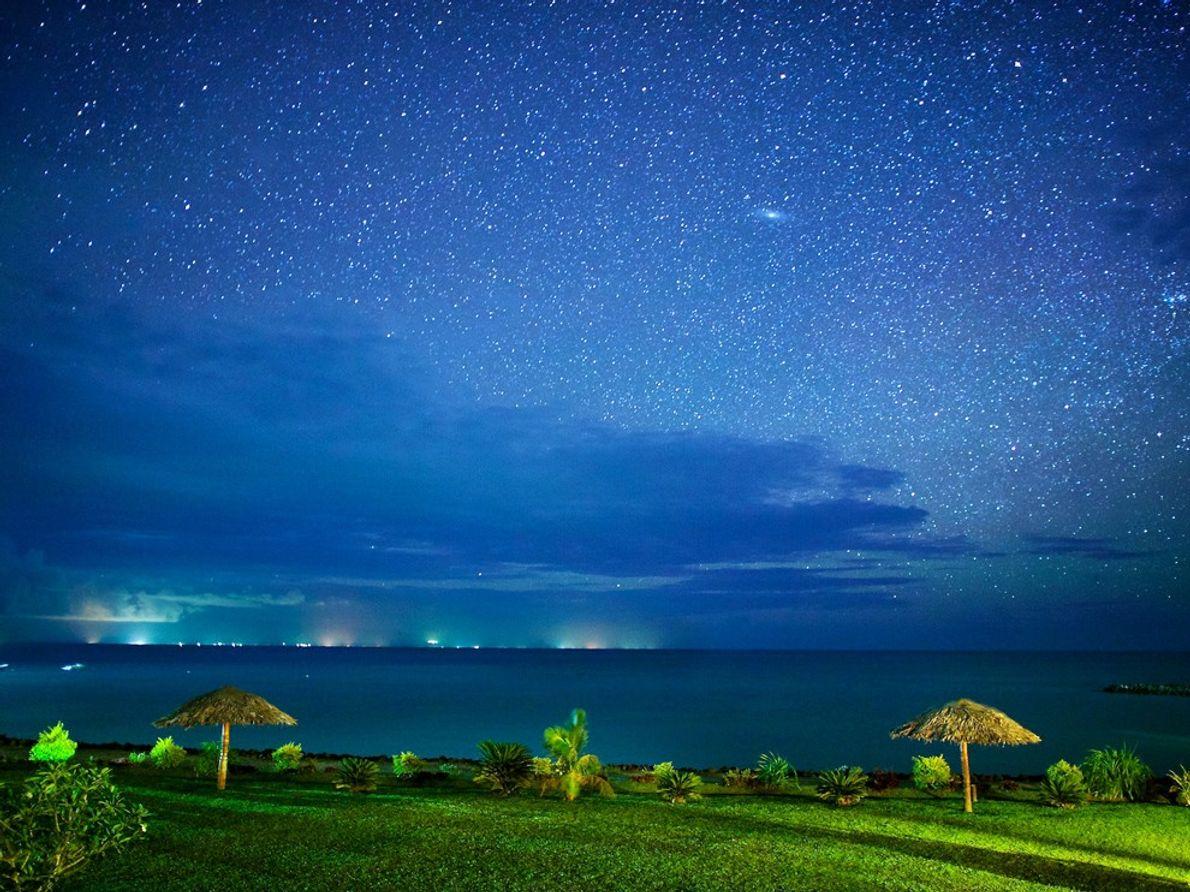 Paisaje nocturno, Samoa Americana