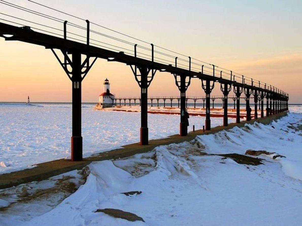 Faro de la ciudad de Michigan