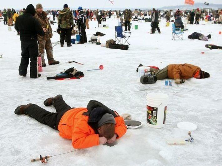 Pesca en el hielo, Minnesota