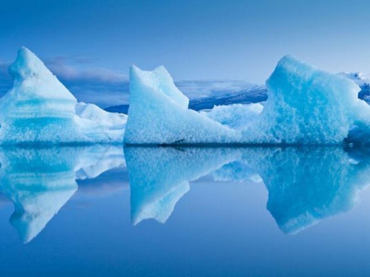 El hielo glacial