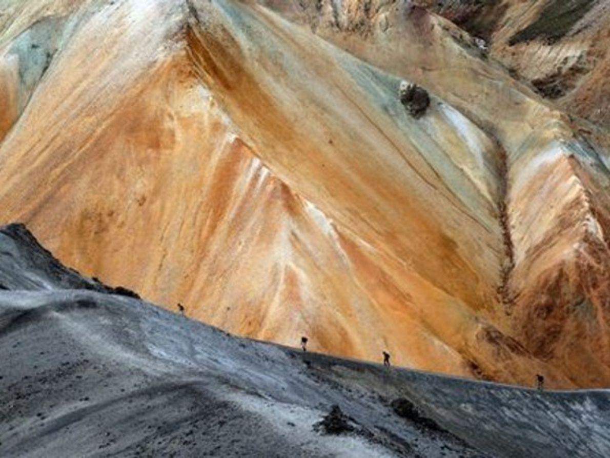Excursionistas en el Pico Azul