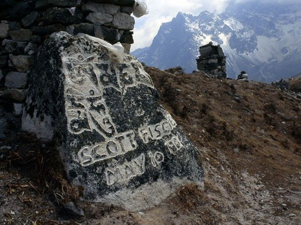 Memorial en el Everest