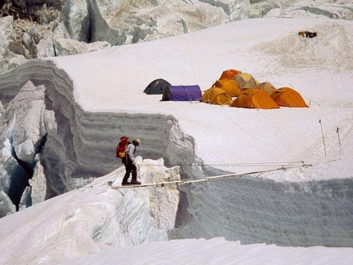 Cruzando la grieta de Khumbu