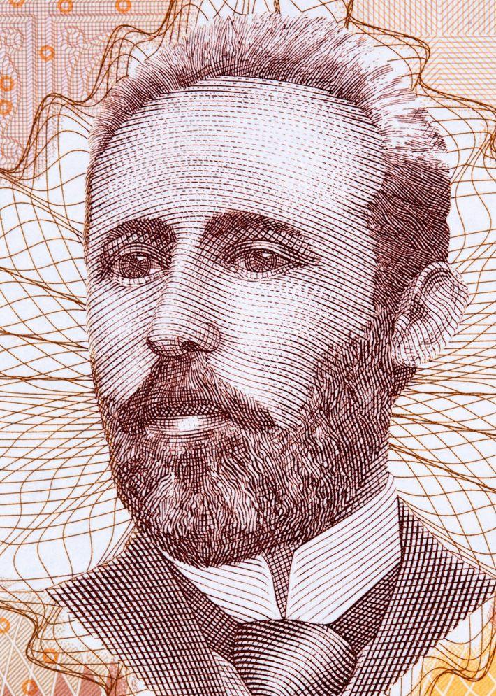 El poeta bosnio-croata Nikola Šop en el billete de 100 marcos