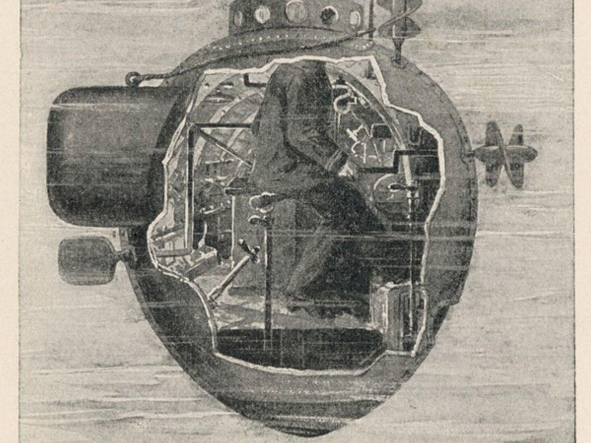 Submarino propulsado a mano