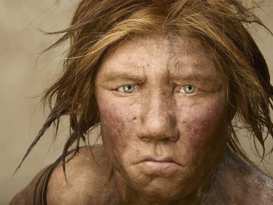 Unamujer neandertal reconstruida en base a su ADN. Fotografía por McNally