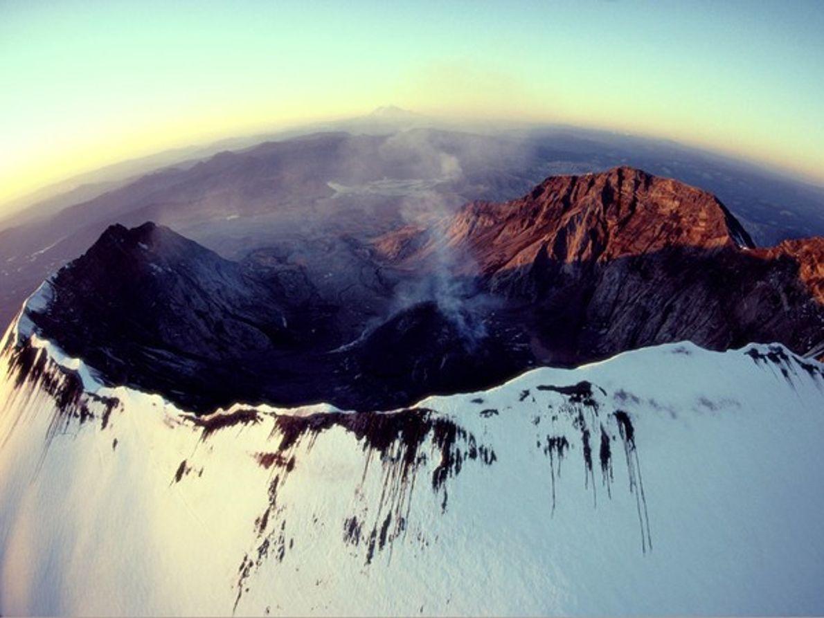 El monte St. Helens tras su erupción