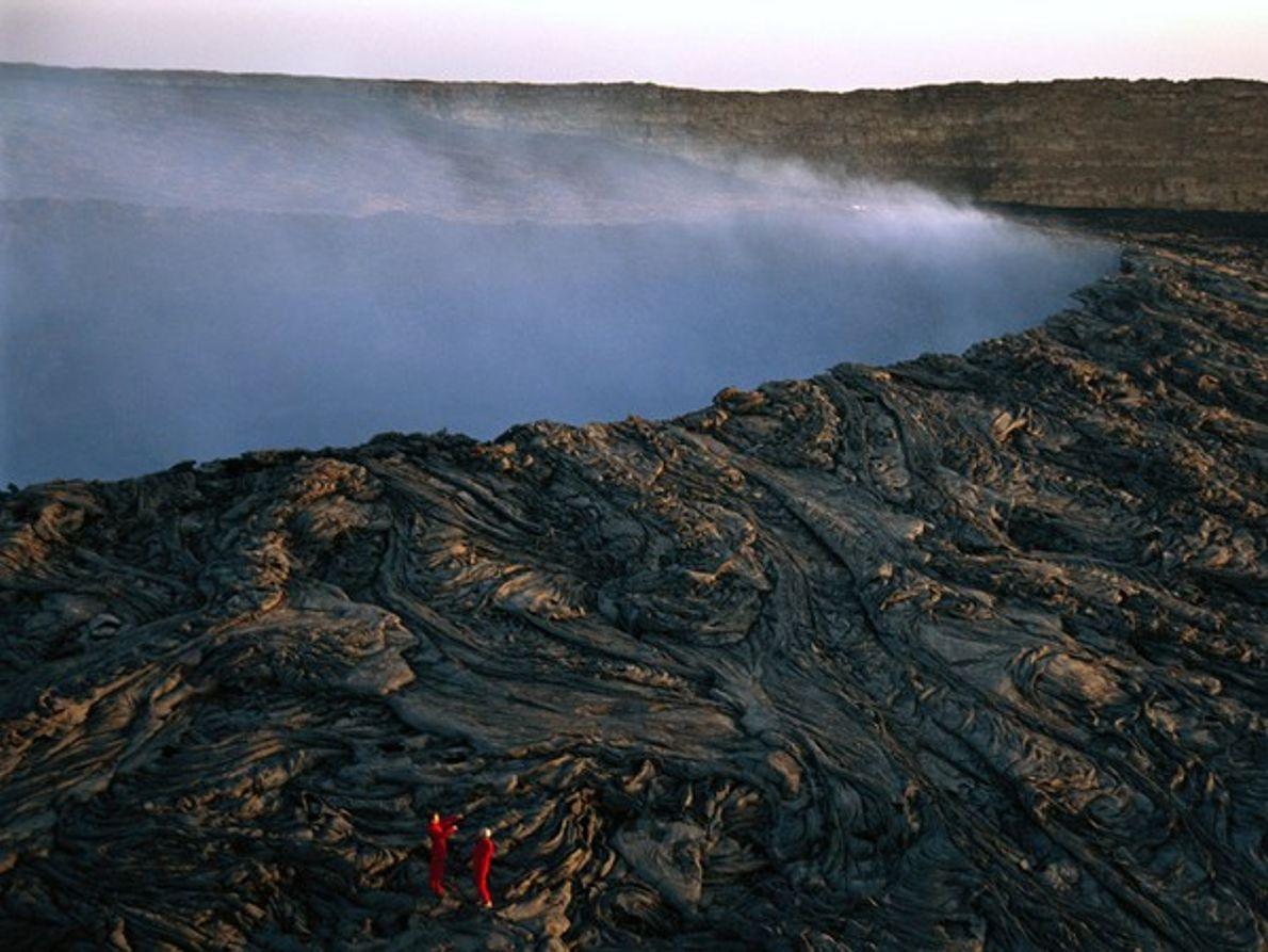Cráter del volcán Ertale, Etiopía