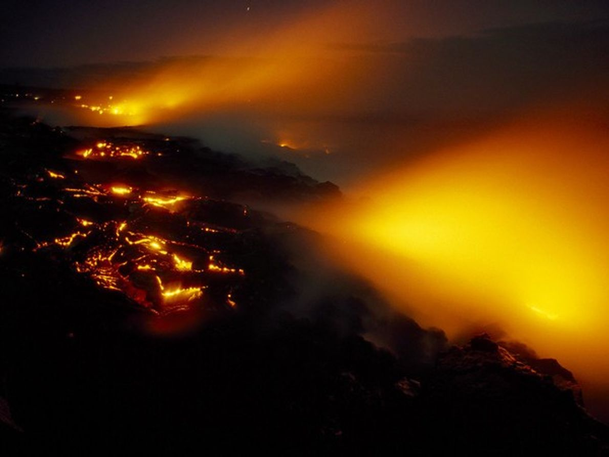 Lava en el volcán Kilauea