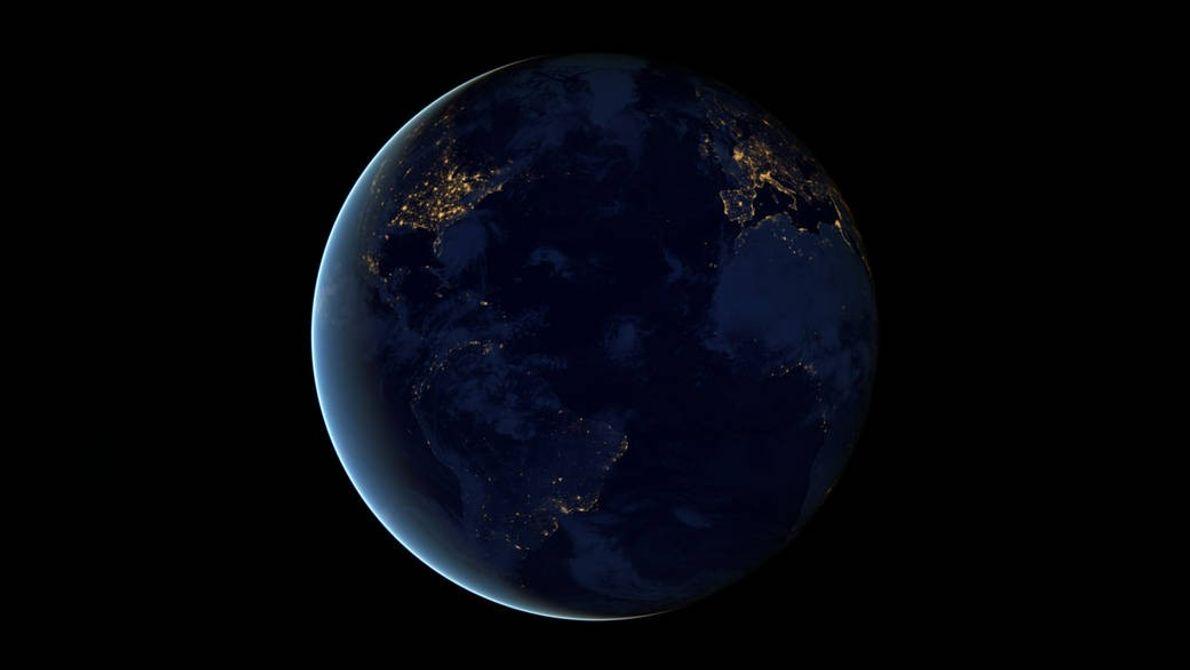Lado nocturno de la Tierra