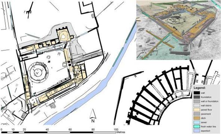 Mapa de la escuela de gladiadores