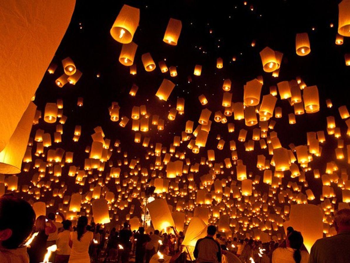 Lámparas flotantes, Tailandia
