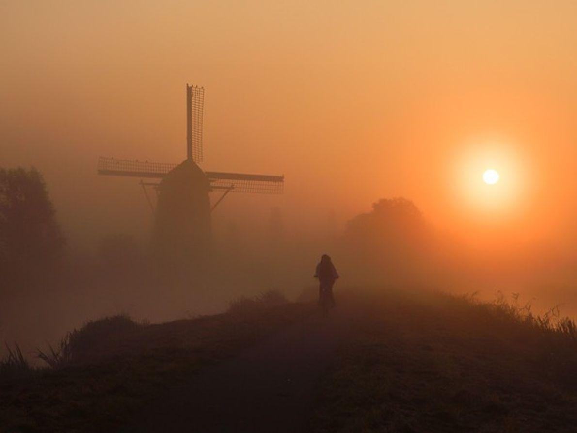Madrugada ciclista en Holanda
