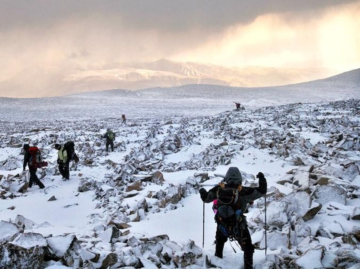 Pico de granito Absaroka-Beartooth Wilderness, Montana