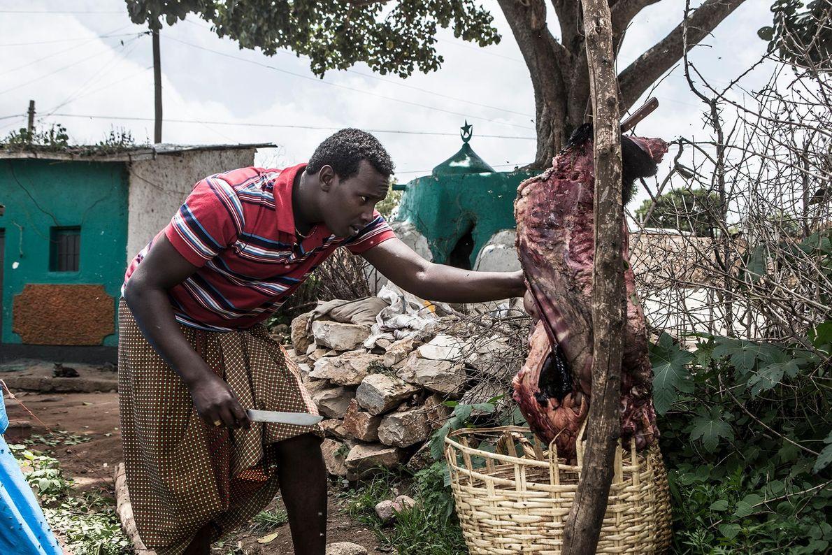 Abbas corta carne