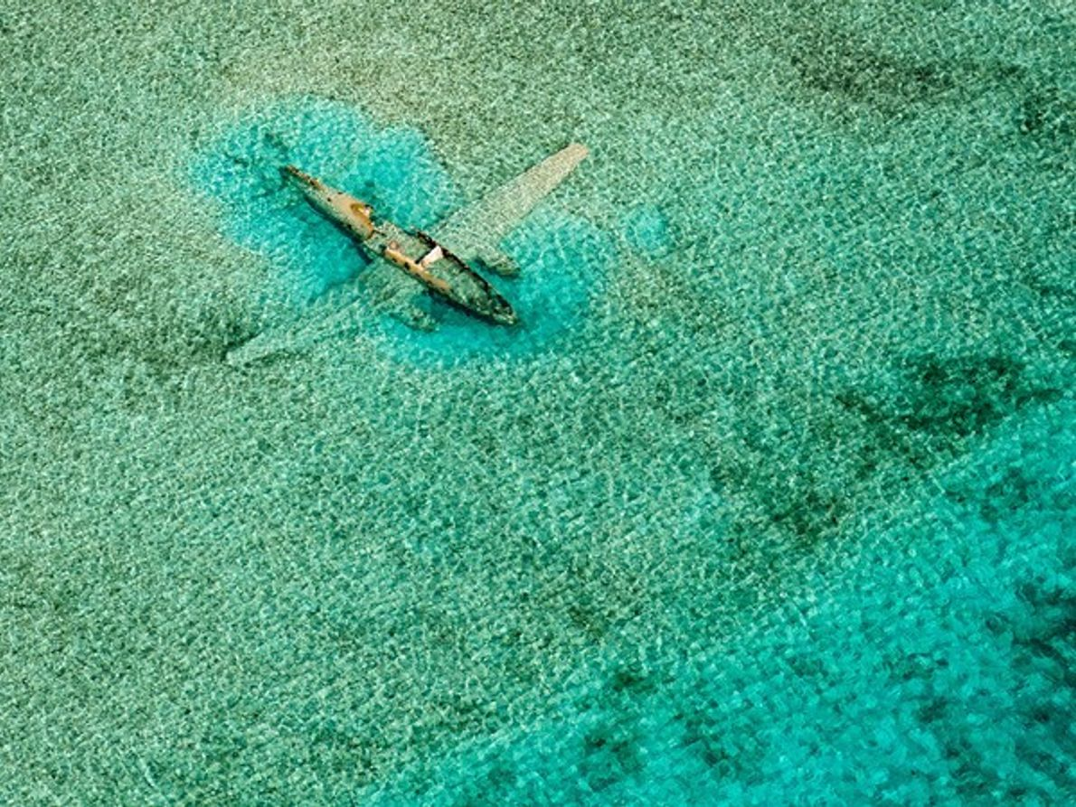 Avión sumergido, Bahamas